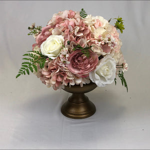 Ivory & Blush floral Centrepiece for wedding reception