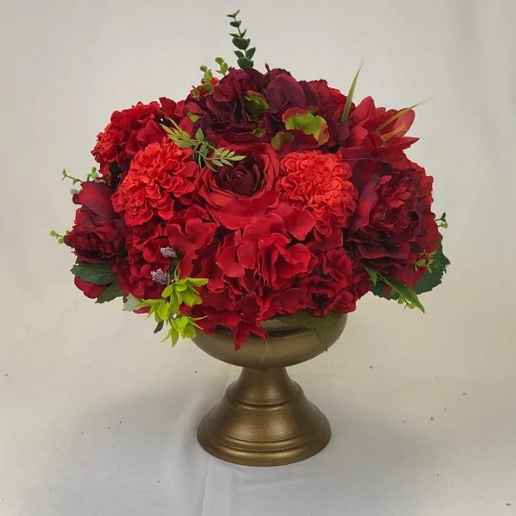 Red Flower arrangement for centrepiece