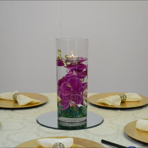 Large Cylinder with floating candle Centrepiece