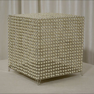 Beaded Cube Card Box for Wedding Reception