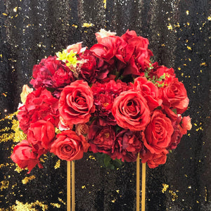 Big Red Flower Arrangement Centrepiece for Wedding Reception