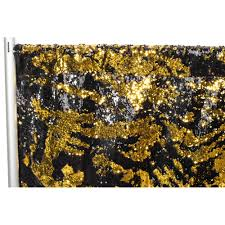 Reversible Sequin Drape Panel - Black & Gold