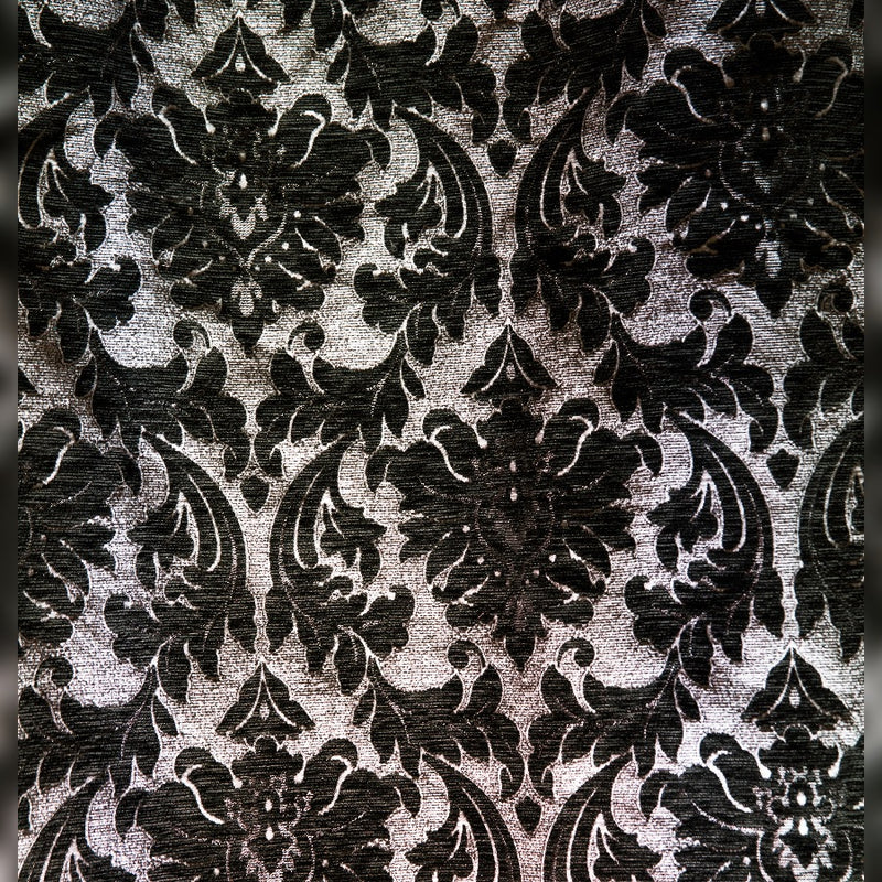 Black & White Damask drape panel for backdrops