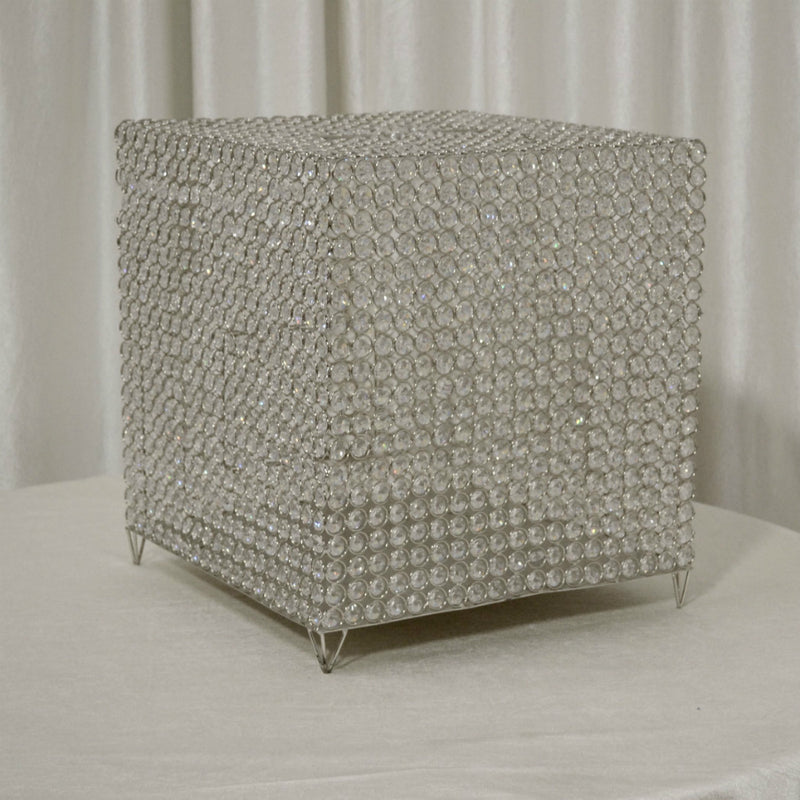 Crystal Cube Card Box for Wedding Reception