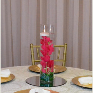 Cylinder with flower stem centrepiece