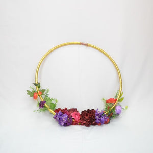 Floral hoops for backdrops