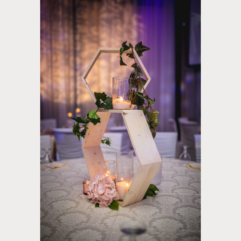 Hexagon Centrepiece for Wedding and Receptions