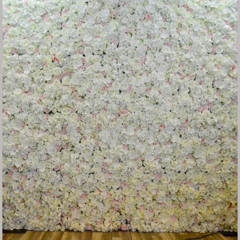 Ivory Floral Wall Backdrop