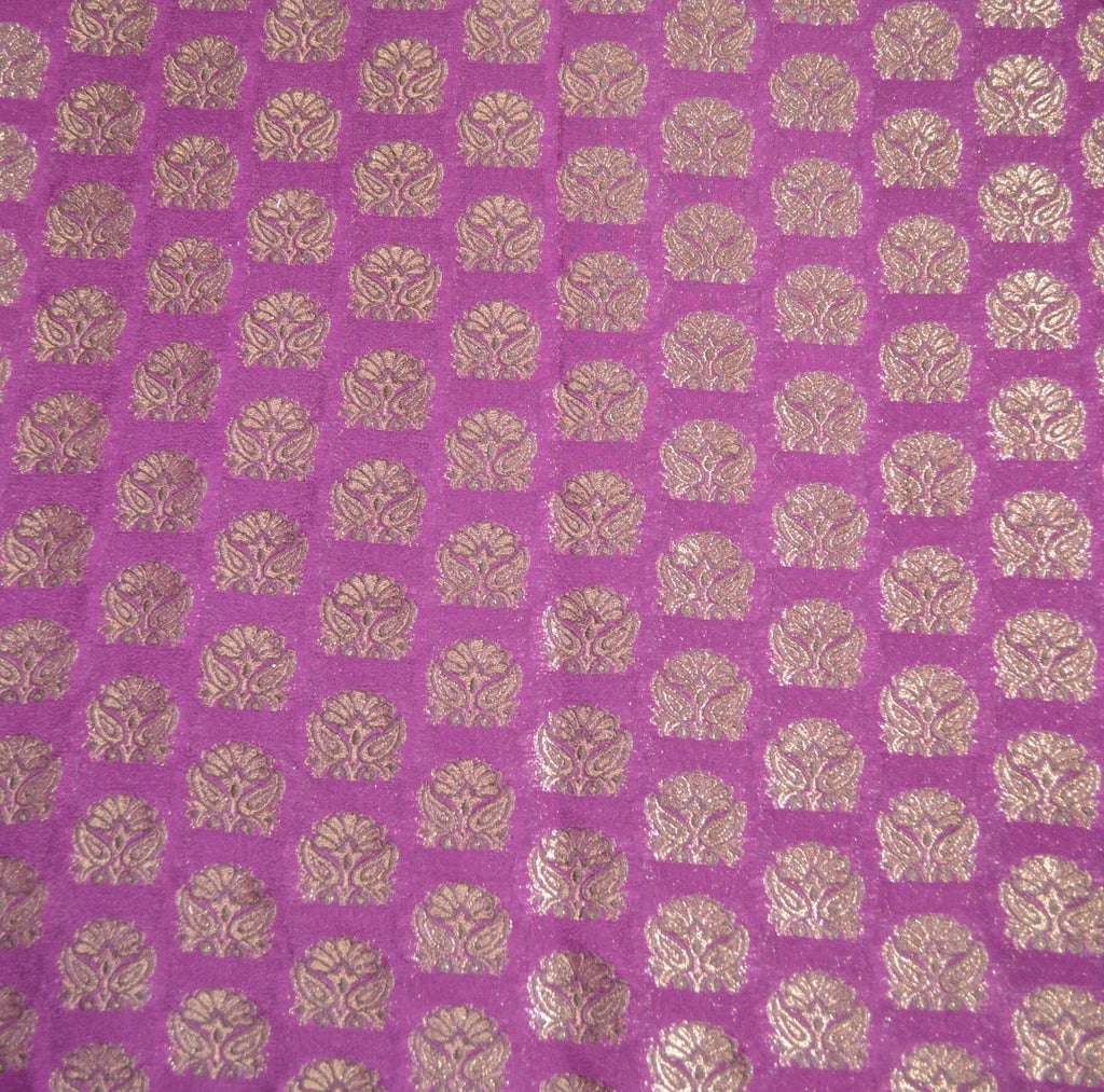 Magenta with gold print drape panel for backdrops