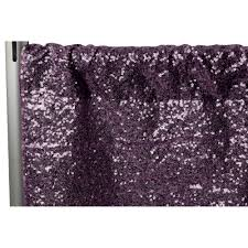 Plum Sequin Drape Panel