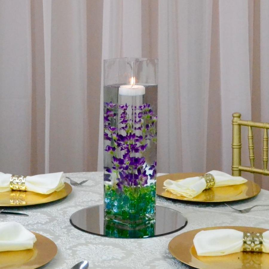 Square Cylinder with floral Centrepiece