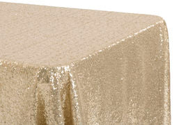 Rectangular Sequin Tablecloth - Gold