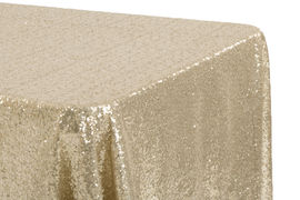 Round Sequin Tablecloth - Blush