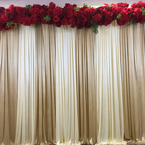 Red flower crown for backdrops