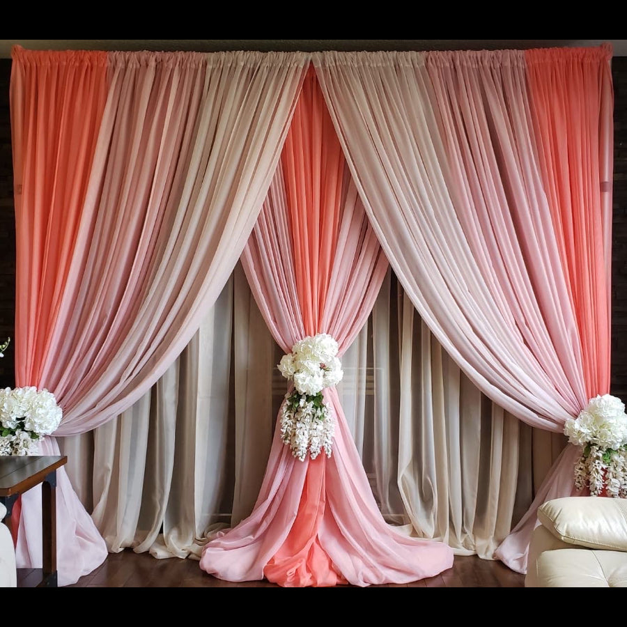 Shades of Pink Backdrop - DIY (Style 3-1)