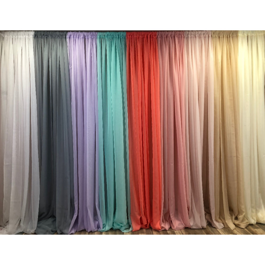 Sheer Voile Drape Panels