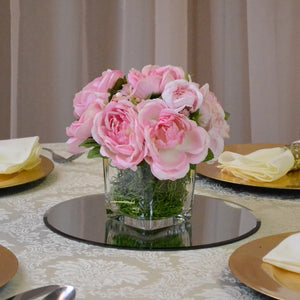 Small pink flower centrepiece