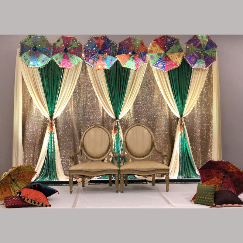 Umbrella Sangeet Backdrop