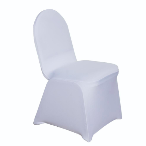 Ivory Spandex Chair Cover