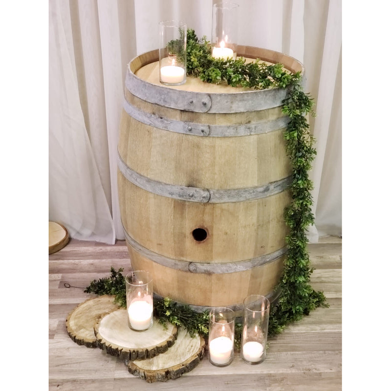 Barrel for rustic theme decor