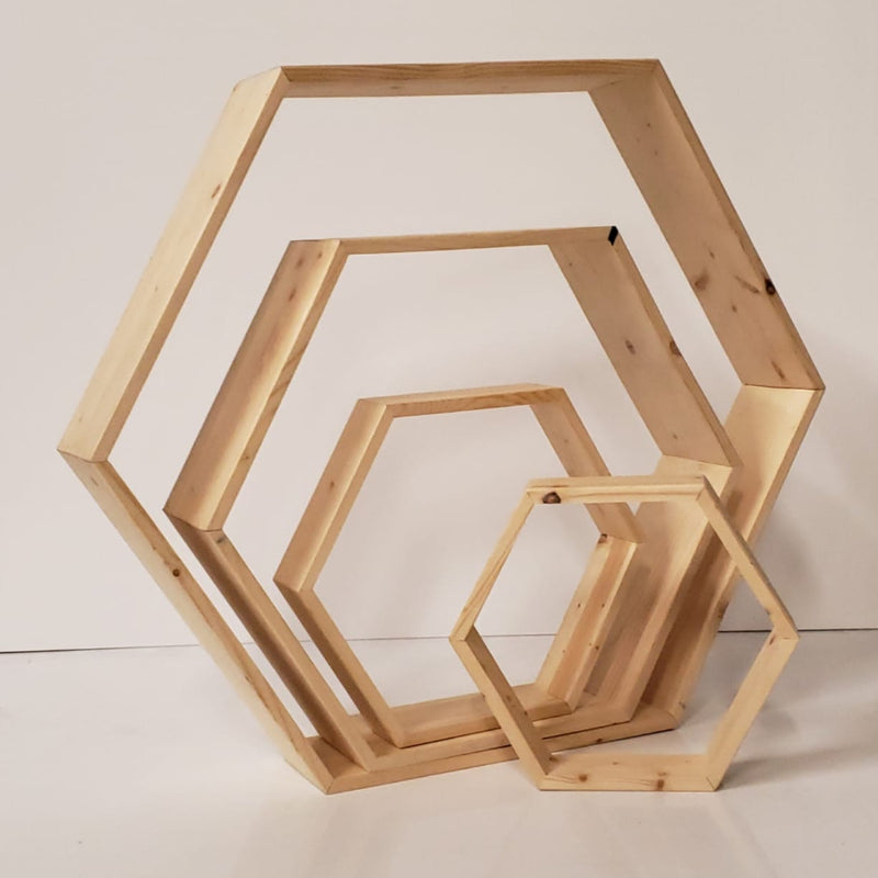Wooden Hexagon Shapes for centrepiece and other decor