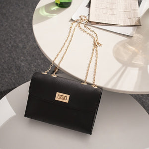 British Fashion Simple Small Square Bag Women's Designer Handbag 2019 High-quality PU Leather Chain Mobile Phone Shoulder bags