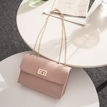 Load image into Gallery viewer, British Fashion Simple Small Square Bag Women's Designer Handbag 2019 High-quality PU Leather Chain Mobile Phone Shoulder bags