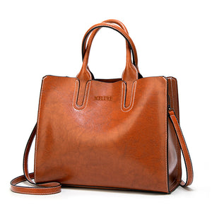 Large Leather High Quality Shoulder Bag