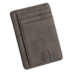 Slim Blocking Leather Wallet