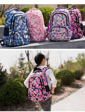 Load image into Gallery viewer, Vibrant Geometric Pattern School Bags