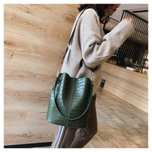 Load image into Gallery viewer, Vegan Designer Crocodile Cross-body Shoulder Bag