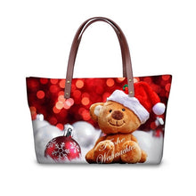 Load image into Gallery viewer, Christmas Cats and Dogs Handbags