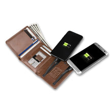 Load image into Gallery viewer, Phone Charging Vegan Leather Wallet