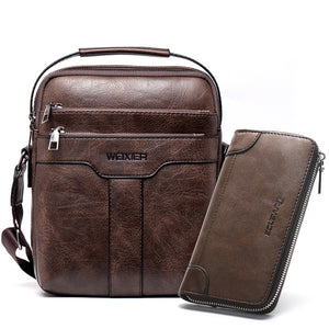 Vegan Leather Crossbody Messenger Bag