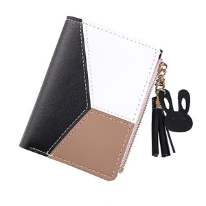 FREE - Patchwork Fashion Paneled Wallet