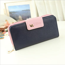 Load image into Gallery viewer, Women Leather Wallet Women's Clutch Bag Hasp Wallet Zipper Long Purses Card Holder High Quality Bolsa Feminina