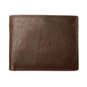 Genuine Leather Men Wallets with Coin Pocket Vintage Male Purse Function Brown Genuine Leather Men Wallet with Card Holders