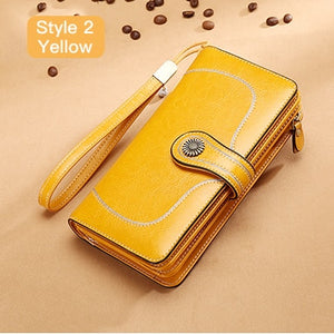 Hot Sale Women Clutch Leather Wallet Female Long Wallet Women Zipper Purse Strap Money Bag Purse For iPhone 7 5162-71