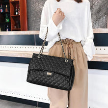Load image into Gallery viewer, Casual PU Leather Chain Large Shoulder Bag Women Lattice Messenger Handbags High Quality Hotsale Ladies Party Purse 2019 New