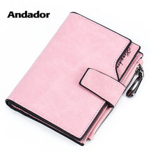 Load image into Gallery viewer, Wallet Women PU 2019 Credit Card Holder Zipper Wallet Short Coin Purse For Cards Purse Portefeuille Zip Card Short Clutch Money