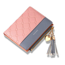 Load image into Gallery viewer, Tassel Leather Wallet Women Small Luxury Brand Famous Mini Women Wallets Purses Female Short Coin Zipper Purse Cartera Mujer