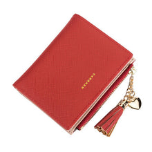 Load image into Gallery viewer, 2018 Tassel Women Wallet Small Cute Wallet Women Short Leather Women Wallets Zipper Purses Portefeuille Female Purse Clutch
