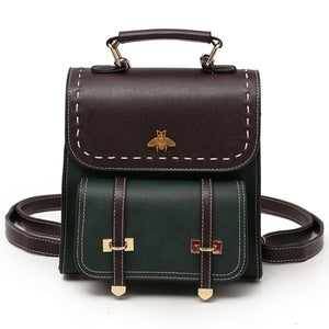 Vintage Pu Leather Backpack