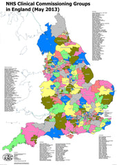CCG Map of England (Non Laminated)
