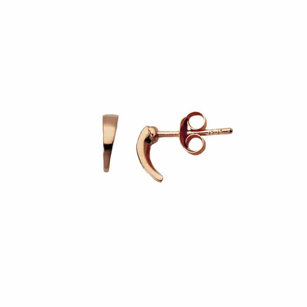 Pink Rosé Plated Hook Stud Earring