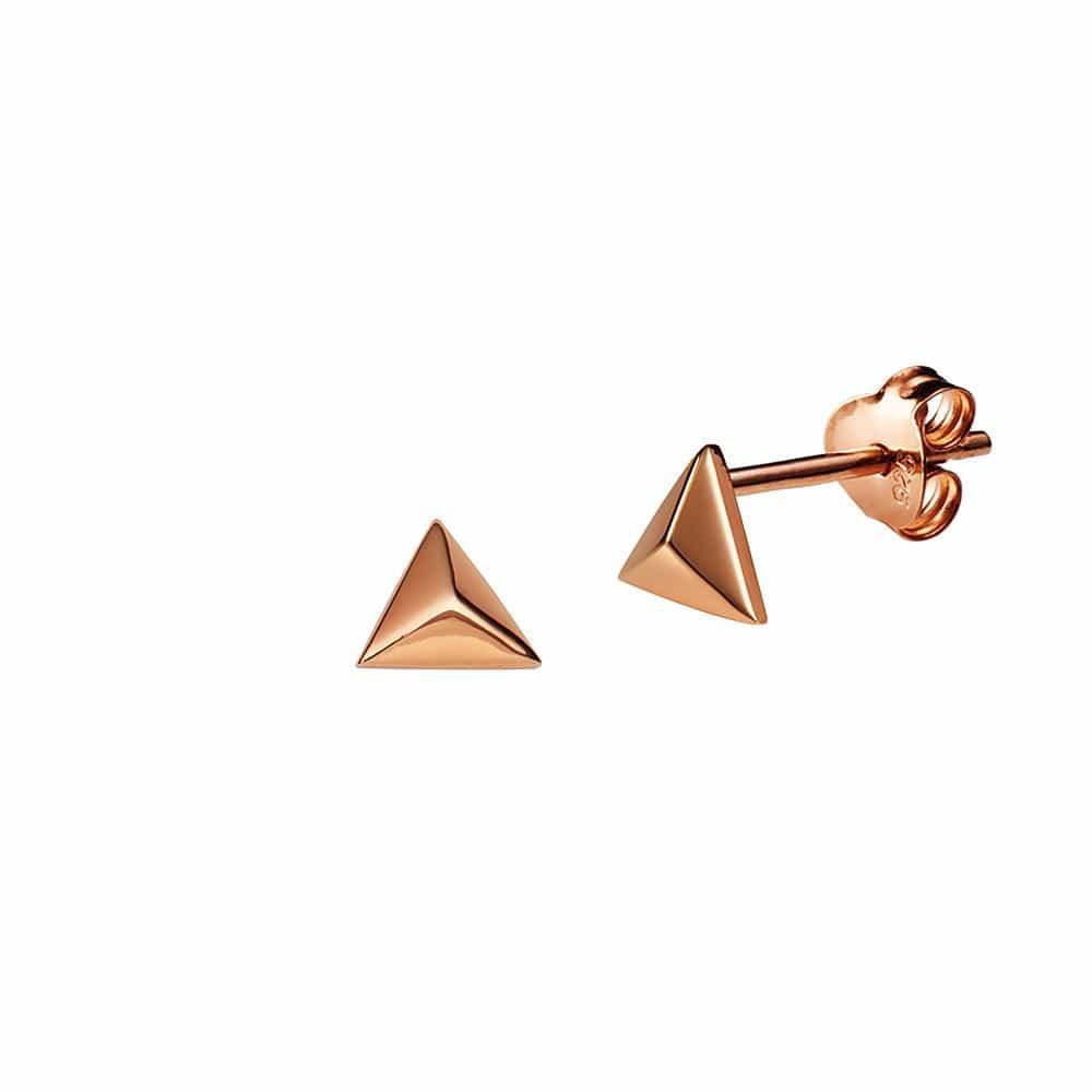 Pink Rose Gold Plated Stud Earring