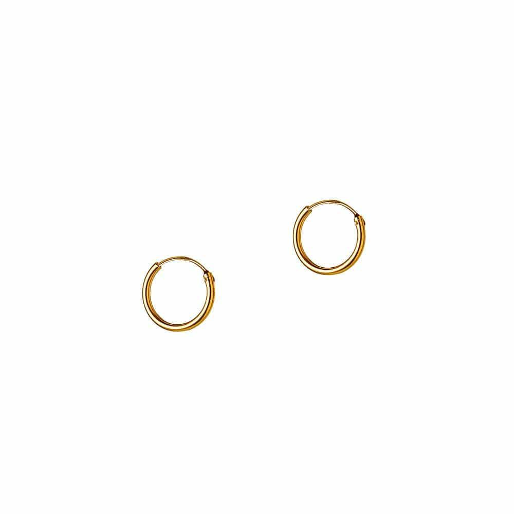 Gold Plated Hoop 40 MM 1,2MM