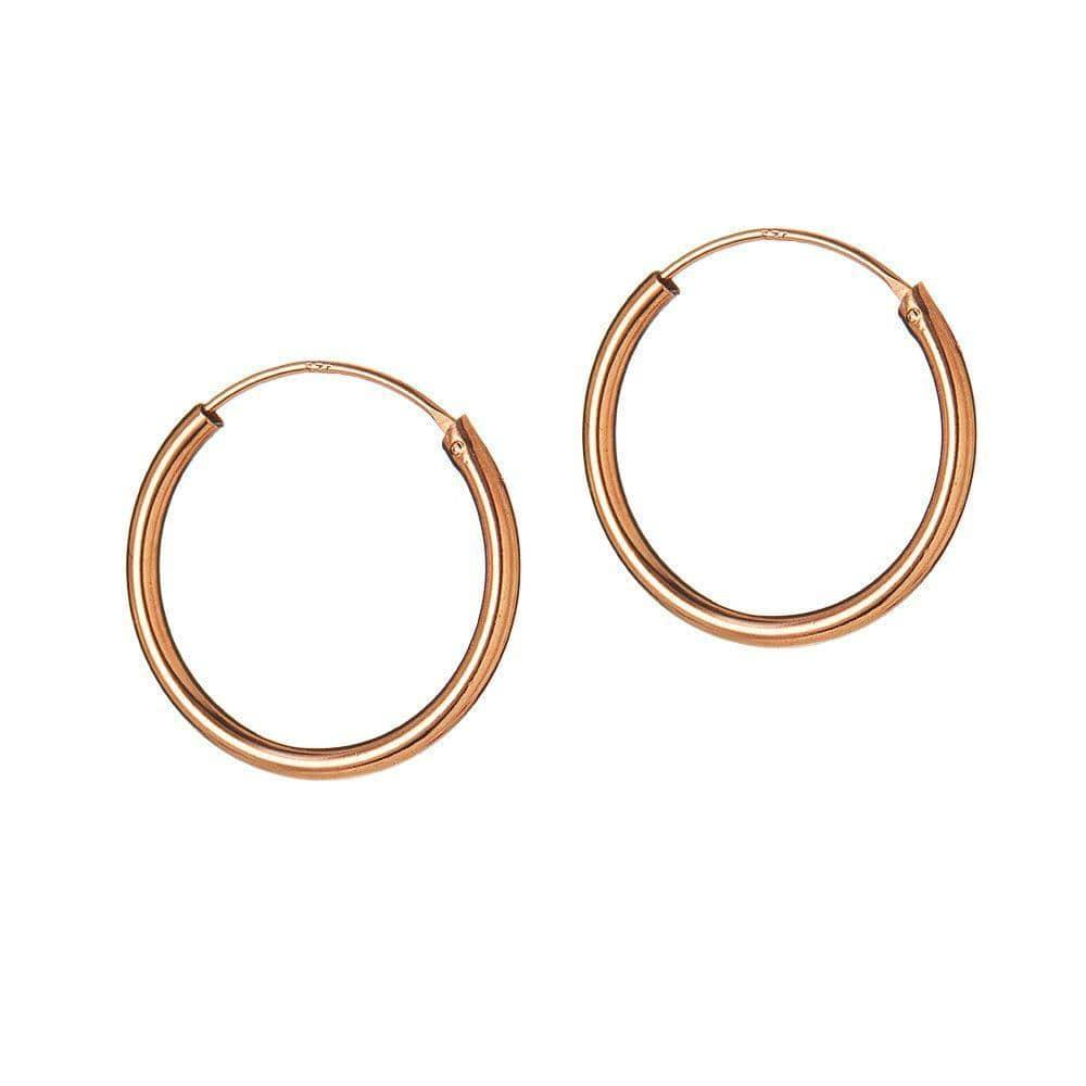 Gold Plated Hoop 40 MM 1,5MM