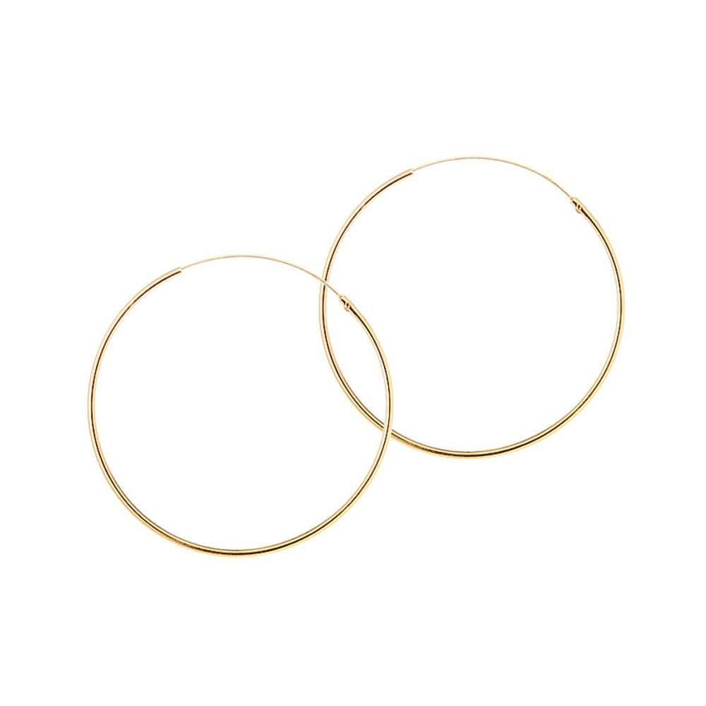 25mm hoop gold plated 1.2mm