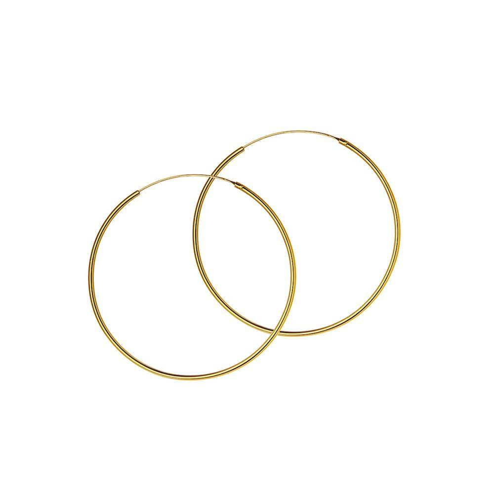 25mm hoop gold plated 1.5mm